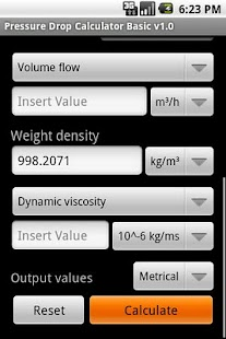 Pressure Drop Calculator- screenshot thumbnail
