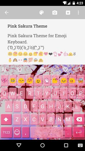Pink Sakura Emoji Keyboard