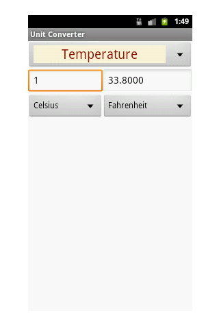 Quick Unit Converter - screenshot