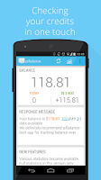 Screenshot of USSD piBalance—track balance
