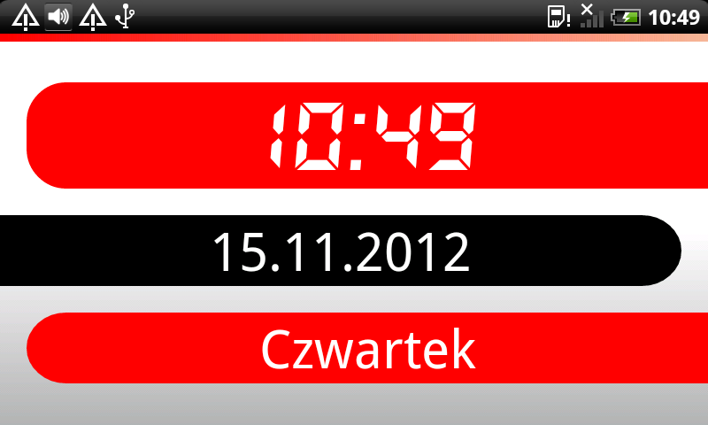 Desk clock - screenshot