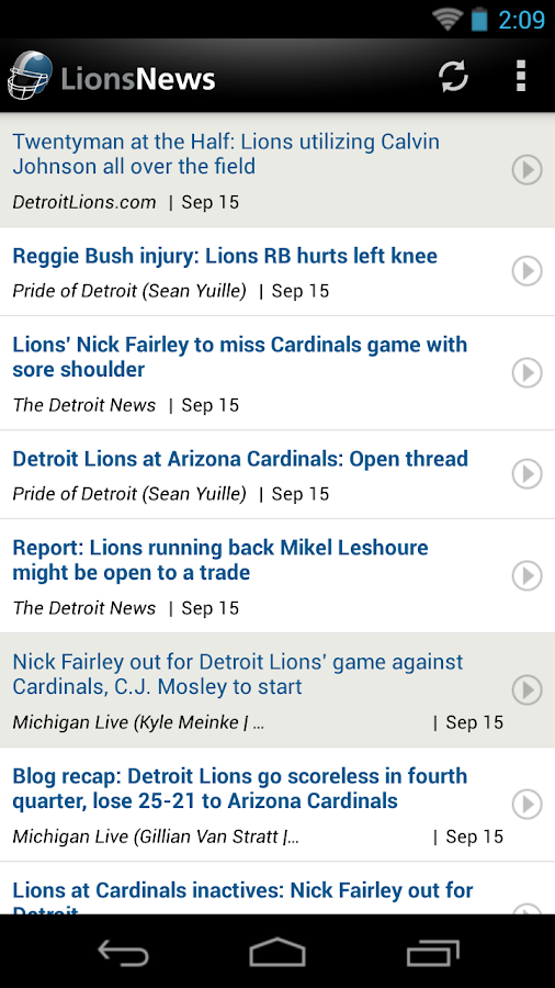 Lions News - screenshot