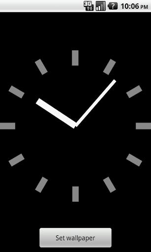 シンプル時計壁紙(黒)