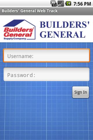 Builders' General Web Track