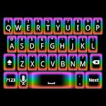 GO Keyboard Rainbow Glow Theme