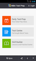 Screenshot of MBA Test Prep