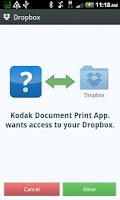 Screenshot of KODAK Document Print App