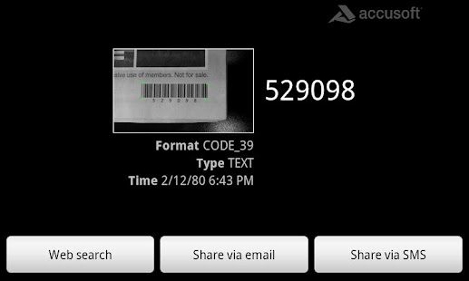 Accusoft Barcode Scanner - screenshot thumbnail