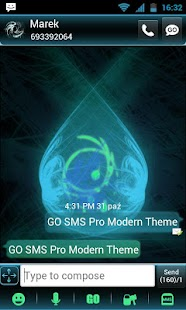 GO SMS Pro Modern Theme - screenshot thumbnail