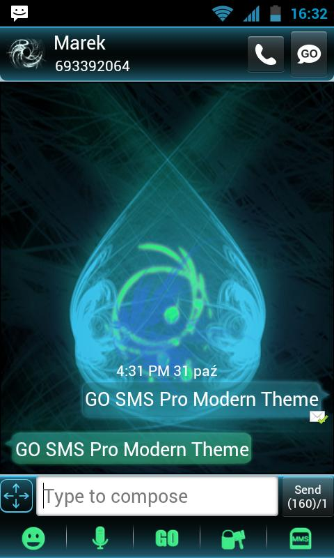 Modern Theme for GO SMS Pro- screenshot