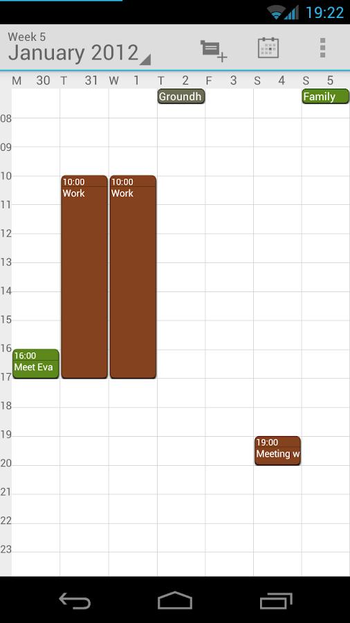 Calendar Droid Free - screenshot