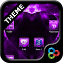 Valentine Purple GO Theme icon