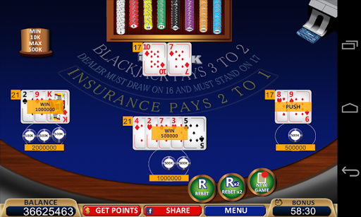 Blackjack 21+ Casino Card Game  7