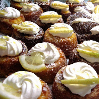 Lemon and White Chocolate Caprese Dessert.
