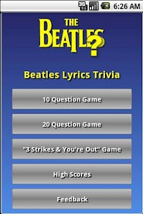 Beatles Lyrics Trivia - screenshot thumbnail