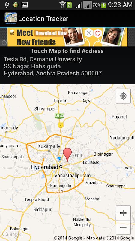 Mobile GPS Location Tracker screenshots