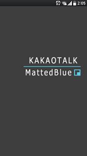 카카오톡 테마 MattedBlue - screenshot thumbnail