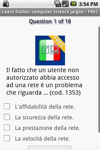Learn Italian: computer trivia