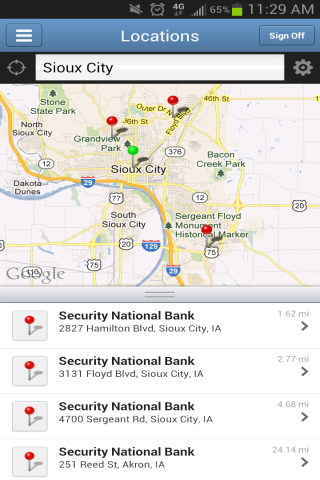SNB Iowa Mobile - screenshot