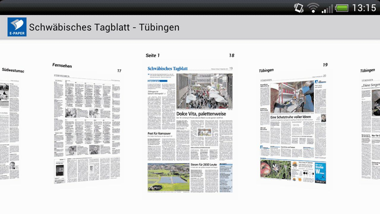 e paper schw bisches tagblatt android apps on google play. Black Bedroom Furniture Sets. Home Design Ideas