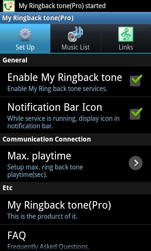 My Ringbacktone Pro-For my ear- screenshot