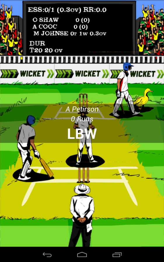 Hit Wicket Cricket - English County League Game- screenshot