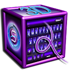 SlideIT Purple 3D Skin icon