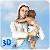 3D Mother Mary Live Wallpaper