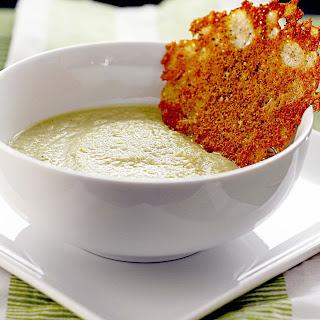 Broccoli Leek Soup w/ Black Pepper Frico