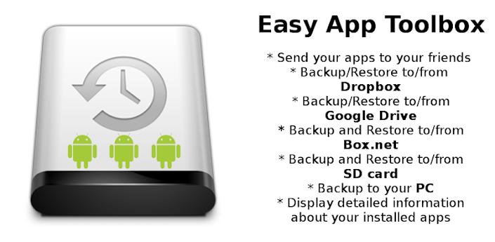 Easy App Toolbox es una nueva aplicación para realizar copias de seguridad de nuestro dispositivo móvil Android. Cuenta con una gran cantidad de opciones, haciéndola una herramienta potente, muy interesante y, lo que es mejor, totalmente gratuita. Con el correr del tiempo, la cantidad así como la importancia de la información que guardamos en un dispositivo móvil aumentó. No sólo información, también hay que tener en cuenta el tiempo que pasamos configurándolo o algo tan simple como las aplicaciones que nos hemos descargado. Y perder alguna de esas cosas puede ser un gran dolor de cabeza.