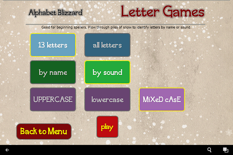 Alphabet Blizzard- screenshot thumbnail