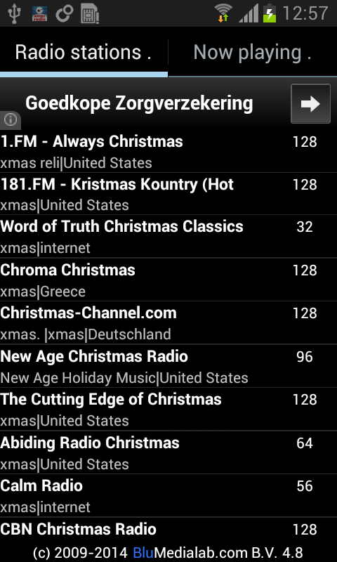 Christmas RADIO - screenshot