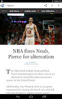Screenshot of Chicago Tribune