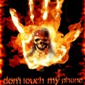 Not touch phone fire skull icon