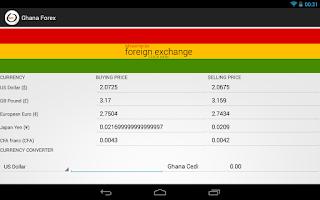 Screenshot of Ghana Forex
