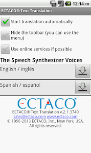 Spanish Offline Translator - screenshot thumbnail