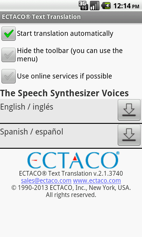 Spanish Offline Translator - screenshot