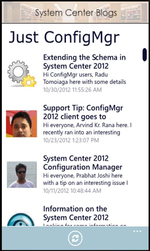 System Center Blog Aggregator - screenshot