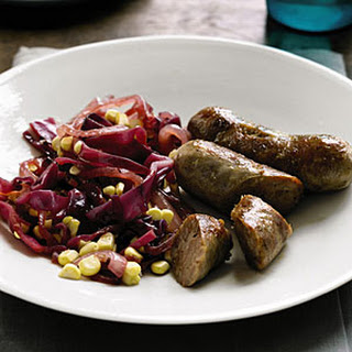 Sausage with Cabbage and Corn Sauté.