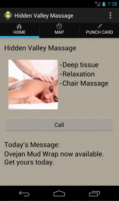 Hidden Valley Massage- screenshot
