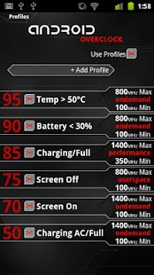 Overclock for Android- screenshot thumbnail