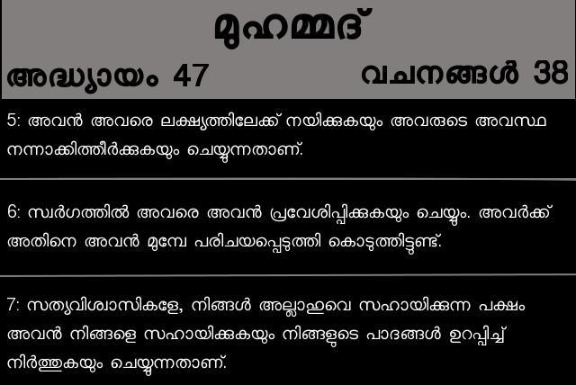 Quran Malayalam Translation - Nusagates