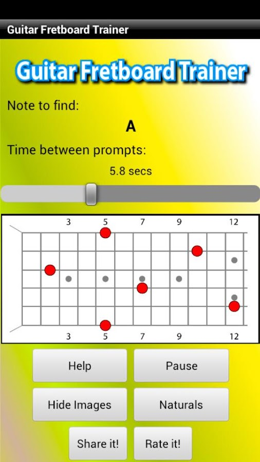 Guitar Fretboard Trainer- screenshot