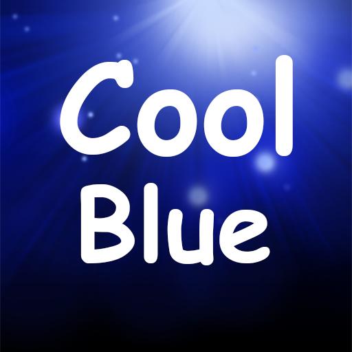 Cool Blue Emoji Keyboard LOGO-APP點子