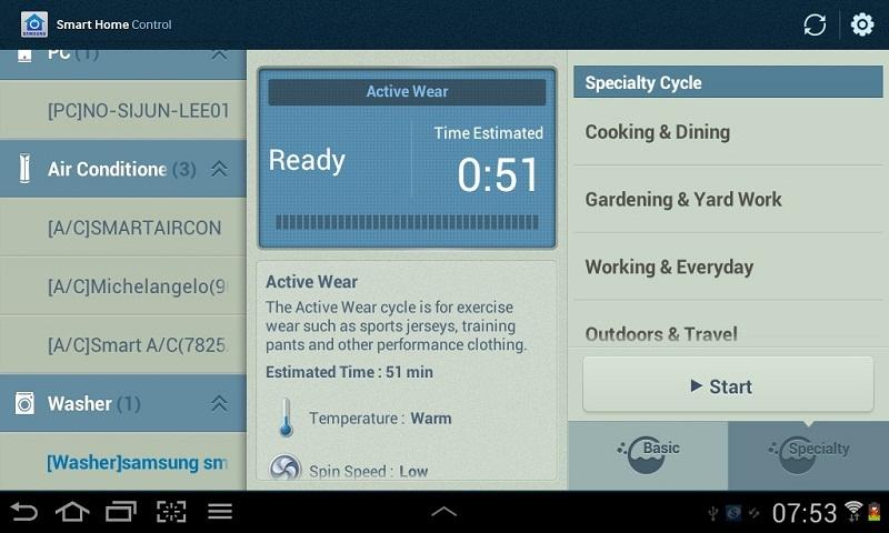 Smart Home Control - Tablet - screenshot