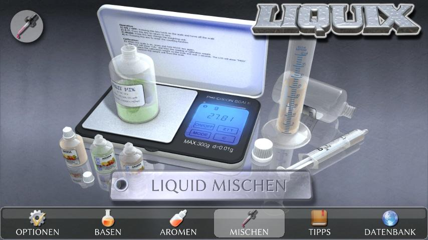 android LIQUIX Liquidrechner & Manager Screenshot 20