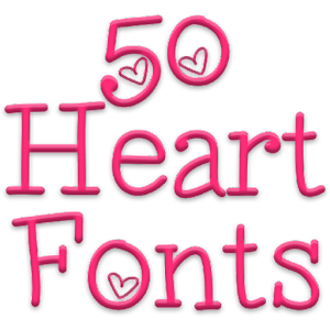 Fonts for FlipFo...A Alphabet Design In Heart