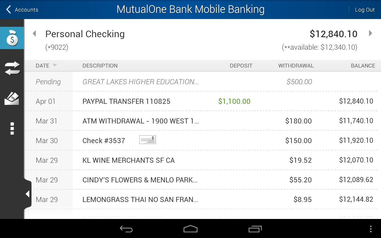 MutualOne Bank Mobile Banking - screenshot