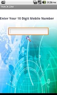 TRACK ZAK - Mobile Tracker- screenshot thumbnail