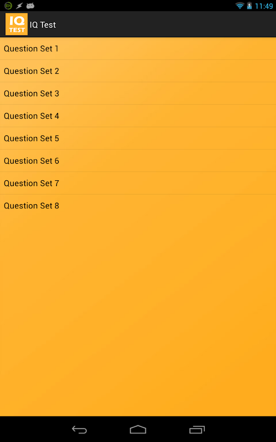 IQ Test - What's my IQ? - screenshot